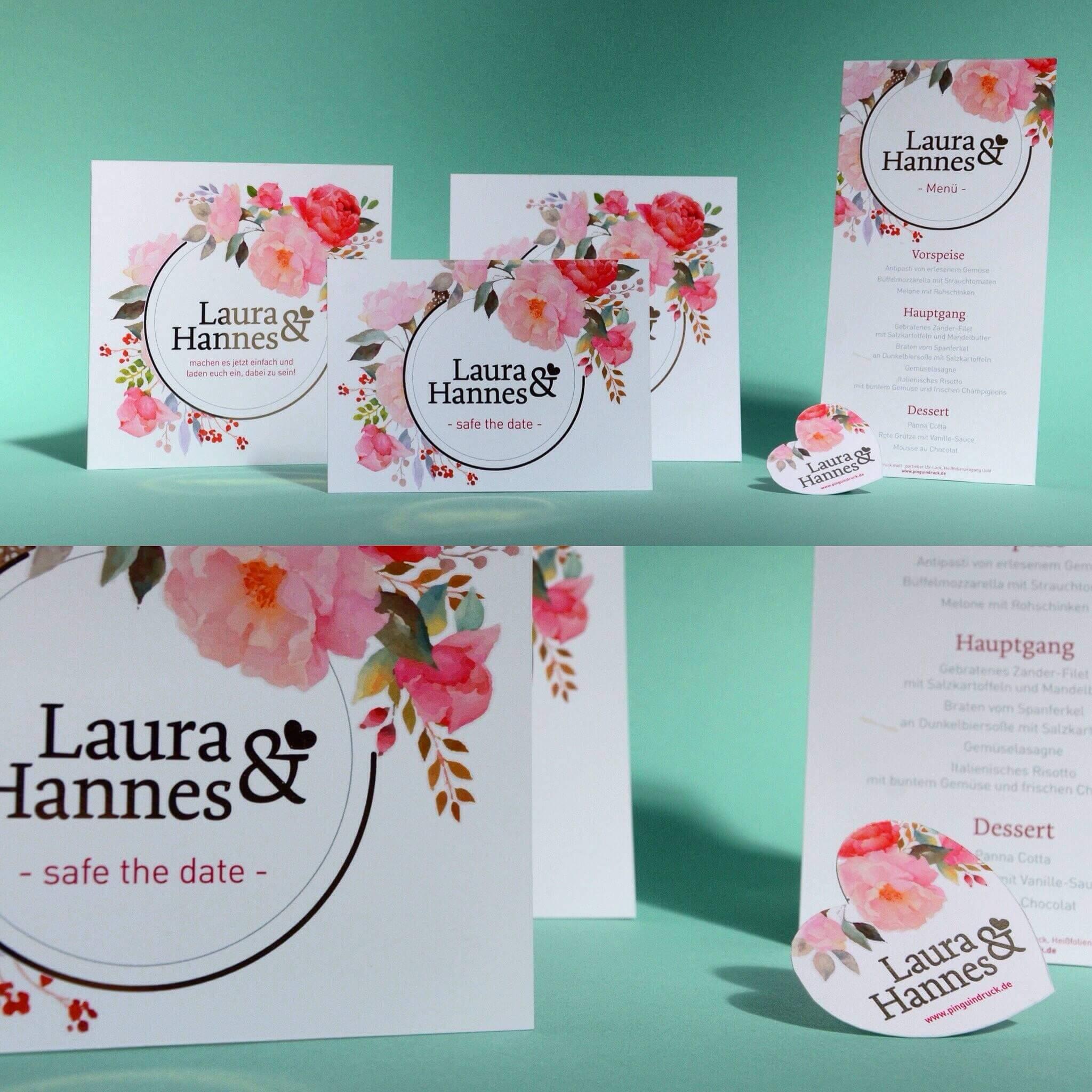 Druckprodukte für die Hochzeitsfeier