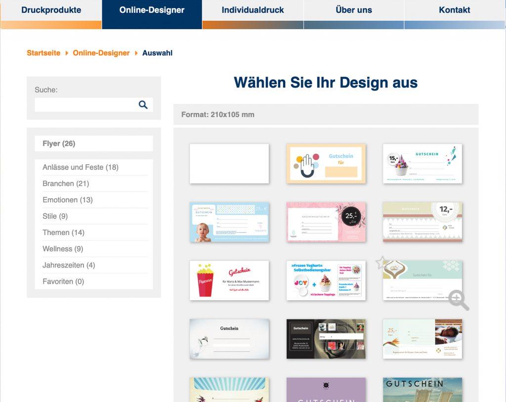 Kreativer Helfer Online Designer