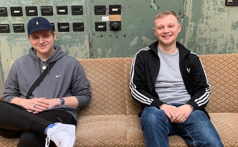 Unsere Azubis: Kenny (links) und Leon (rechts)