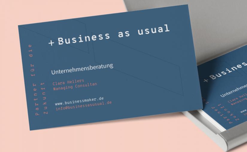 Edle Visitenkarten auf Designpapier