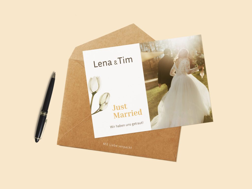 Postkartenkarton für ansprechende Hochzeitskarten