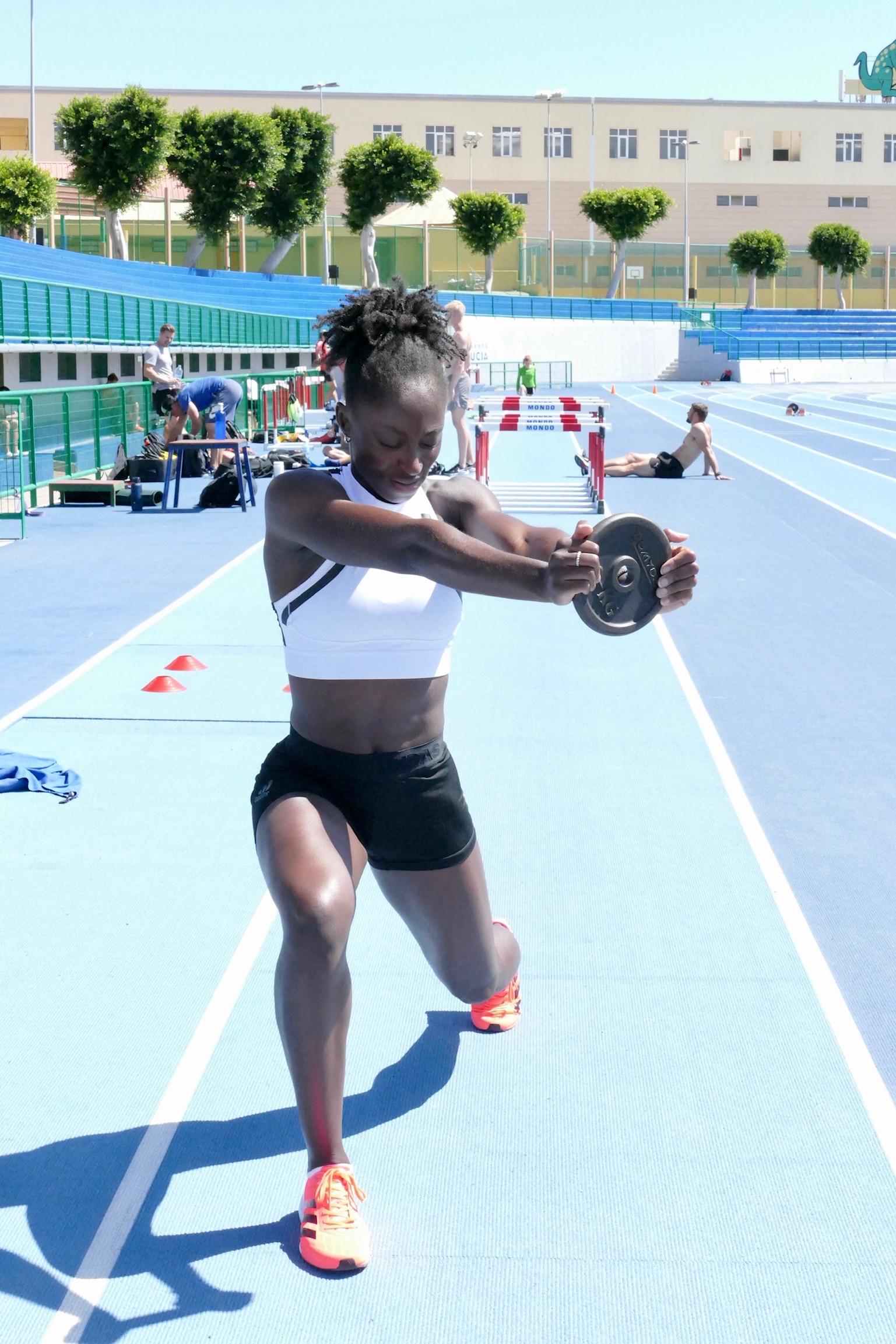 Lisa Kwayie im Trainingslager