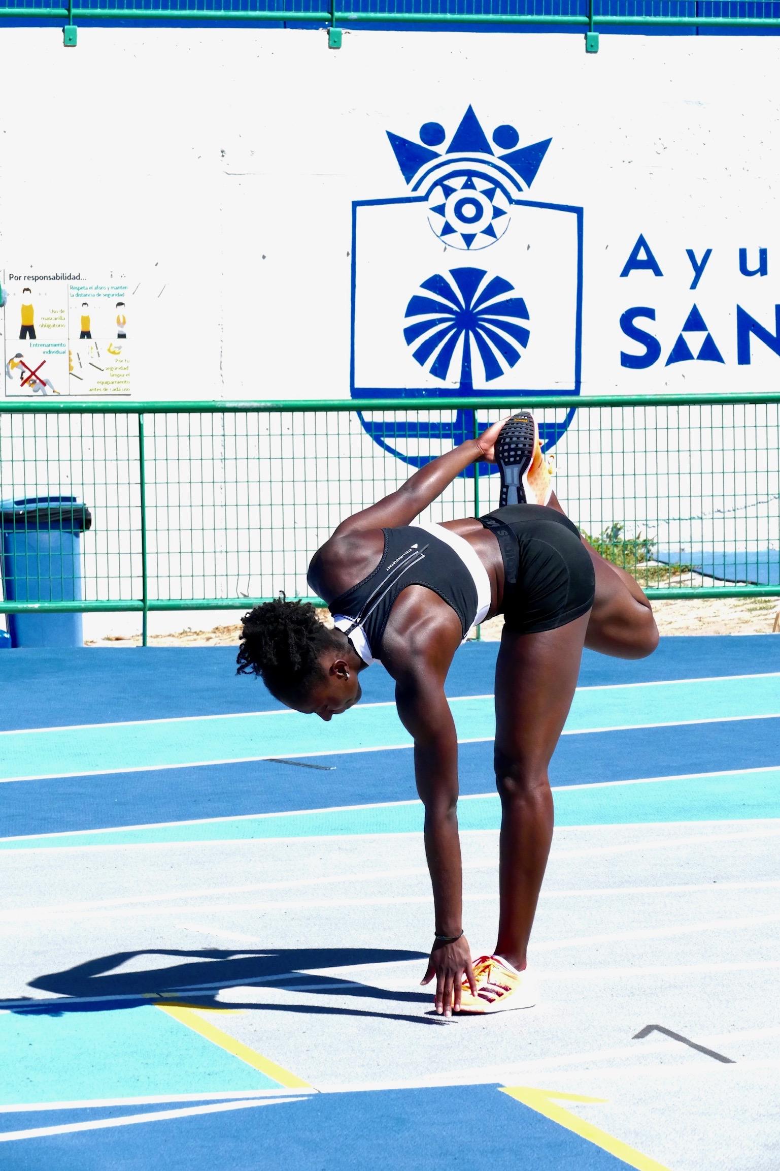 Lisa Kwayies Vorbereitung für den Lauf