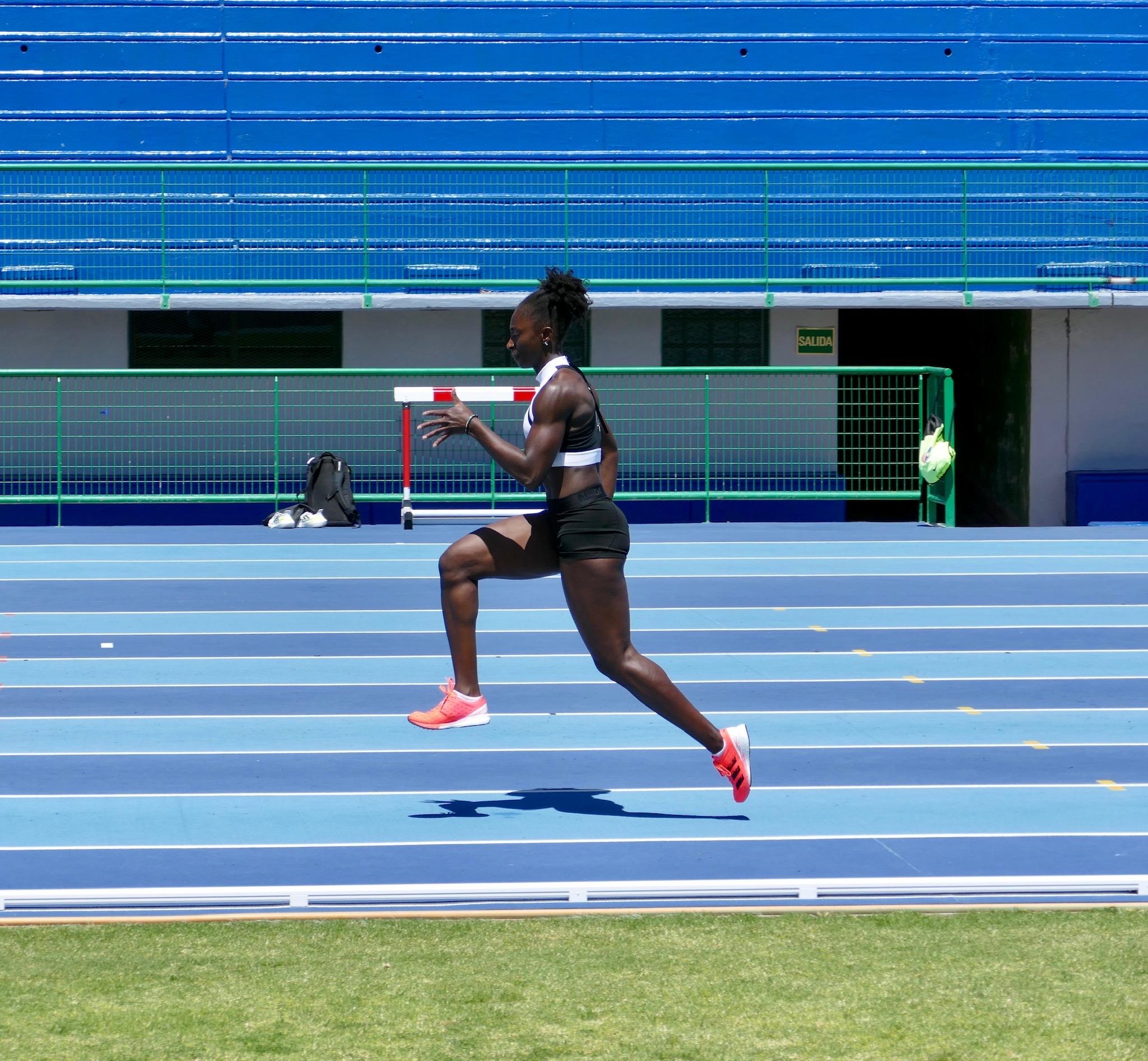 Lisa Marie Kwayie beim Training